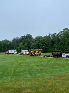 Trucks on the job site