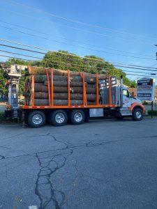 Logs on Truck